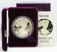 1986 AMERICAN SILVER EAGLE PROOF 1 OZ COIN OGP BOX & COA US MINT JD906