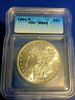 1901-O  MORGAN SILVER DOLLAR ICG MINT STATE 62  WOW  COIN AND ICG GRADED