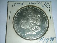 1878 S   MORGAN SILVER DOLLAR COIN