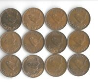 GREAT BRITAIN   1937 55   FARTHINGS   12 DIFFERENT DATES   V