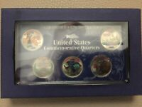 2000 COLORIZED STATE QUARTER 5 COIN SET