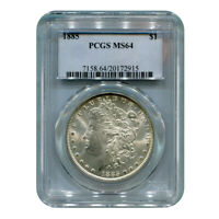 CERTIFIED MORGAN SILVER DOLLAR 1885 MINT STATE 64 PCGS