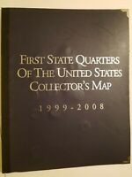 1ST STATE QUARTERS OF THE US COLLECTORS MAP 1999 2008 USED N