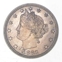 GEM BU   UNC   1883 LIBERTY V NICKEL   WITHOUT CENTS   FIRST YEAR ISSUE