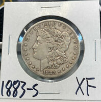 1883-S MORGAN SILVER DOLLAR $1 EXTRA FINE  DETAILS 90 SILVER TOUGHER DATE