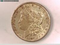 1891-P VAM 2BTOP 100 DOUBLE EAR AND CLASHED NECK AU  MORGAN SILVER DOLLAR