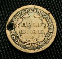 SALE 1858 O SEATED LIBERTY HALF DIME 5C UNGRADED FILLER US SILVER COIN CCC503