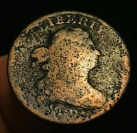1800'S ND DRAPED BUST HALF CENT 1/2C FILLER UNGRADED WORN US COPPER COIN CCC167