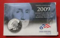 2009 U.S MINT D.C AND TERRITORIES CLAD QUARTERS PROOF SET. O