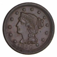 1850 BRAIDED HAIR LARGE CENT - CHOICE 9730