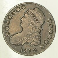 1819/8 CAPPED BUST HALF DOLLAR - SMALL 9 5922