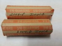 TWO 2004 IOWA BU QUARTER ROLLS   P&D MINT MARKS  80 COINS