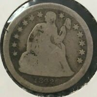 1842 SEATED LIBERTY SILVER DIME