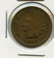 1892 INDIAN HEAD CENT PENNY 1C COIN - RY546