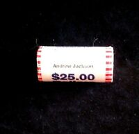 BRILLIANT UNCIRCULATED ROLL OF ANDREW JACKSON PRESIDENTIAL DOLLARS