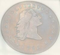 1795 FLOWING HAIR DOLLAR B5/BB27 3 LEAF VARIETY OLD ANACS VF30 SUPERB EYE APPEAL