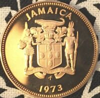 JAMAICA ONE CENT 1973 LOVELY PROOF COIN