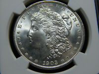1903-O $1 MORGAN DOLLAR MINT STATE 65 NGC, BETTER DATE  & WHITE