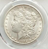 1902-S PCGS AU53 FILLED 2 BETTER DATE MORGAN SILVER DOLLAR ABOUT UNCIRCULATED