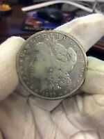 1893-O MORGAN VAM 5 SANTED DATE / O TILTED RIGHT SILVER ONE DOLLAR VARIETY COIN