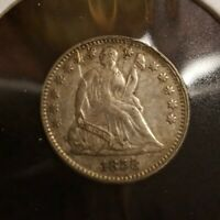 1858 SEATED LIBERTY HALF DIME EARLY AMERICAN TYPE COIN SCRAT