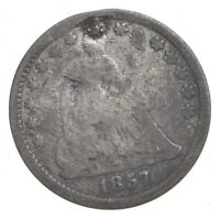 1857 SEATED LIBERTY HALF DIME   CHARLES COIN COLLECTION  330