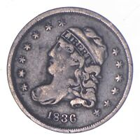 RARE   1836 CAPPED BUST HALF DIME   TOUGH TO FIND   US EARLY