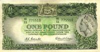 1961 AUSTRALIAN ONE POUND BANKNOTE COOMBS/WILSON   HG11 7755