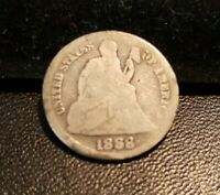 1888-S SEATED LIBERTY SILVER DIME SHIPS FREE