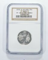 PF69 UCAM 2002 S OHIO SILVER STATE QUARTER   GRADED NGC  964
