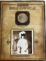 1898-P MORGAN SILVER DOLLAR UNCIRCULATED NELLIE CASHMAN COIN AND STAMP SET