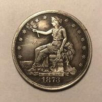1873 CARSON CITY TRADE DOLLAR WITH GREAT DETAIL APPEARS NEAR