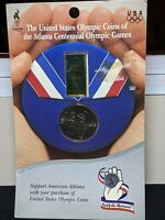 1995 COMMEMORATIVE HALF DOLLAR BASEBALL SET WITH OLYMPIC PIN NIB