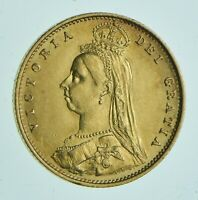 1887 1/2 SOVEREIGN   VICTORIA  GREAT BRITAIN GOLD COIN  963