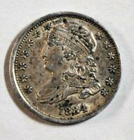 1834 US SILVER 10 CENT   DIME   NICE NOT CLEANED   CAPPED BU