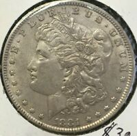 1881 MORGAN SILVER DOLLAR UNCERTIFIED