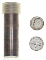 1969 S ROOSEVELT DIME PROOF ROLL 50 COINS   SOLID DATE LOT