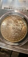 1896 MORGAN SILVER DOLLAR PCGS MINT STATE 64 SOME TONING OBV & REV CLASHED DIES-POSS VAM?