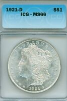CONDITIONAL RARITY - 1921-D ICG MINT STATE 65 MORGAN SILVER DOLLAR WOW ON MINT BLOOM