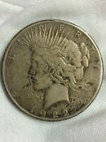 1922-S PEACE SILVER ONE DOLLAR 90 US $1 COIN