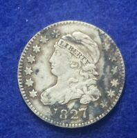 1827 CAPPED BUST DIME   EXTRA FINE    HIGH GRADE COIN