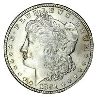 1881 $1 MORGAN SILVER DOLLAR UNC UNCERTIFIED