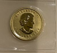 MINT SEALED GOLD CANADIAN $5 MAPLE LEAF COIN 1/10 OZ .9999 F
