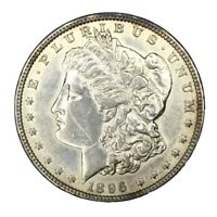 1896/6 $1 MORGAN SILVER DOLLAR AU VAM 2 UNCERTIFIED
