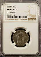 1923S STANDING LIBERTY QUARTER  EXTRA FINE  DETAIL GRADED NGC