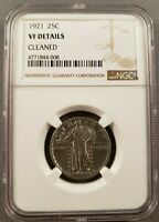 1921 STANDING LIBERTY QUARTER  VF DETAILS GRADED NGC