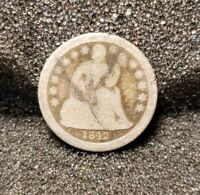 1842-P SEATED LIBERTY DIME SILVER SHIPS FREE