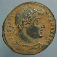 BEAUTIFUL SAND PATINA CONSTANTINE THE GREAT GLORIA EXERCITVS AE 3 FROM ANTIOCH