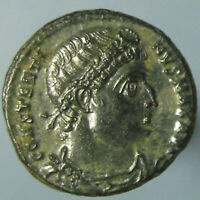 SUPERB CONSTANTINE THE GREAT GLORIA EXERCITVS AE 3 FROM ANTIOCH