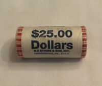BU ROLL OF JOHN ADAMS DOLLARS UNCIRCULATED NEVER OPENED ROLL WITH 25 COINS